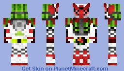 Kamen Rider Zangetsu Watermelon Arms 仮面ライダー斬月•ウォーターメロンアームズ Minecraft Skin