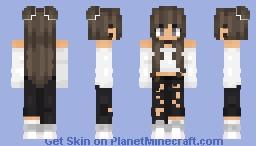 cute hair buns! Minecraft Skin