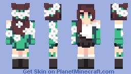 Flower Mint Minecraft Skin