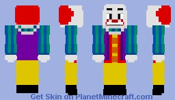 Pennywise  (IT 1990) Minecraft Skin