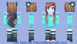Berry Blue Minecraft Skin