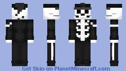 Mcr My Chemical Romance Skeleton Minecraft Skin