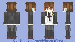 ♫꒰・◡・๑꒱ So many PROBLEMS but not even ONE can be solved.. ♫꒰・◡・๑꒱ [School Boy] Minecraft Skin
