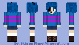 Ciel as Frisk for my Undertale AU BBtale Minecraft Skin