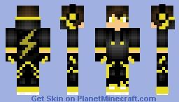 Epic Gold Lightning Boy Minecraft Skin