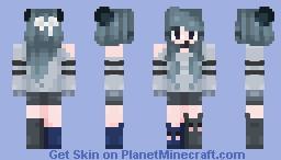 """☆𝓡𝓪𝓿𝓮𝓷𝓢𝓬𝓻𝓾𝓫𝓫𝓼☆ """"Purrfect~"""" Minecraft Skin"""