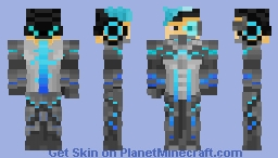 Gene Grey: Elysian bounty hunter (Cyberpunk skin contest entry) Minecraft Skin
