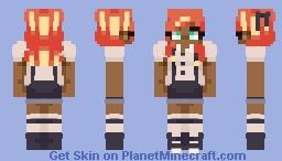 spooky fire Minecraft Skin