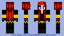 Black Widow ( Marvel Comics ) Minecraft Skin