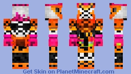 "Kamen Rider Ex-Aid Double Fighter Gamer Level 39 ""Knock Out Fighter 2""  仮面ライダーエグゼイド•ダブルファイターゲーマー レベル39 Minecraft Skin"