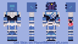 Uchuu Sentai Kyuranger -- Ookami Blue [ improved ] Minecraft Skin