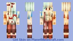 Fujiwara no Mokou Minecraft Skin