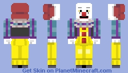 Chiliwap | Pennywise - The Dancing Clown 1986 Minecraft Skin