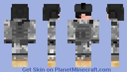 ★US ARMY★ Helicopter Pilot Skin Minecraft Skin