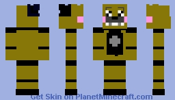 Golden Funtime Freddy Minecraft Skin