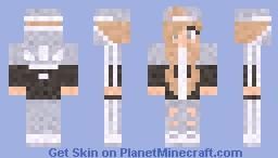 Adidas girl (Grey and Black) Minecraft Skin