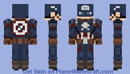 Captain America (No helmet version in description) Minecraft Skin