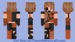 Halloween pumpkin witch Minecraft Skin