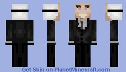 Slenderman// Nicolas Cage mask Minecraft Skin