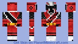 AkaNinger/ Ninja Steel Red [Shuriken Sentai Ninninger/ Power Rangers Ninja Steel] アカニンジャー Minecraft Skin