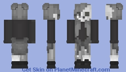 Fading girl with skull mask Minecraft Skin