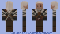 The Witcher : Geralt of Rivia Minecraft Skin