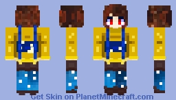 outertale chara Minecraft Skin
