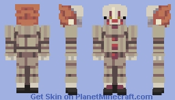 "IT-Pennywise 2017 ""Why, I'm Pennywise the dancing clown!"" Minecraft Skin"
