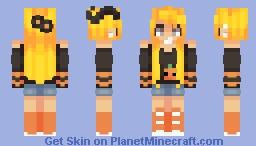 ♥σkα cσlα♥ When pumpkins glow in the moonlight Minecraft Skin