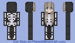 Sp00ky Skeleton Minecraft Skin