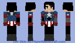 Winter soldier as Captain america | Movie Minecraft Skin
