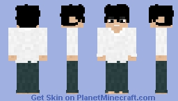 L Lawliet | Death Note Minecraft Skin