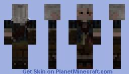 The Witcher II:Assassins of Kings Geralt of Rivia Minecraft Skin