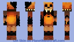 Reupload: Ignited Golden Freddy Minecraft Skin