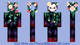 The Flowered Shrub Minecraft Skin