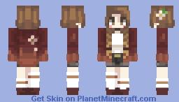 Pumpkin Spice Braids Minecraft Skin