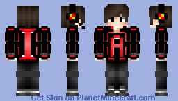 Red A-1 Gaming Hardcore Youtuber Edition Minecraft Skin