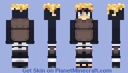 Minato Namikaze; The Lost Tower Custom Minecraft Skin