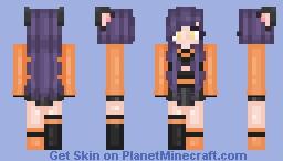 she seemed like a normal girl, until i saw her ears~ Minecraft Skin