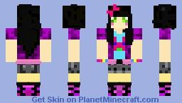 Cute Bunny Shirt Techno Girl Minecraft Skin