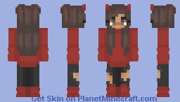 Red Girl Minecraft Skin