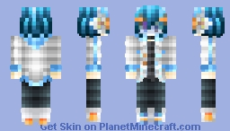 🐬The Game World Is So Wonderful.. Look At The Bright Side Of an 8-Bit World!!🐬 [Skintober Day 18 2017 8-bit Horror Skin 1] Minecraft Skin