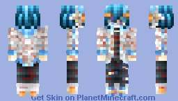 🐬Oi.. It Isn't Cool Anymore.. What's Going On Anymore?! SOMEONE GET ME OUT🐬 [Skintober Day 18  2017 8-bit Horror Skin 2] Minecraft Skin