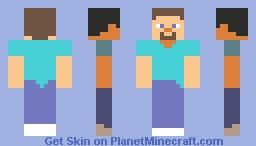 Cartoon Steve (As seen on the cover) Minecraft Skin