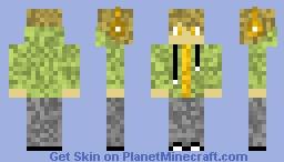 Green Hoodie Gaming Boy Minecraft Skin