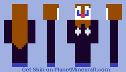 Halloween Piplup!! (can be called shadow Piplup) Minecraft Skin