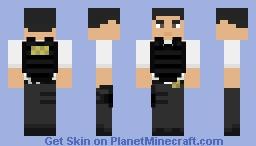 CIA Operator w/ Bulletproof Vest Minecraft Skin