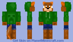 Fox with creeper hoodie (request) Minecraft
