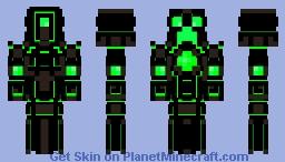 Cyborg Creeper Minecraft Skin