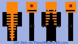 Random Demon/Dino with orange bone armor Minecraft Skin
